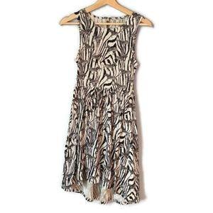 Hi-low H&M novelty print zebra sleeveless dress